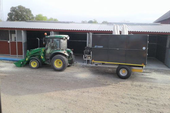 Bild på K-vagnen Spånsugningsvagn