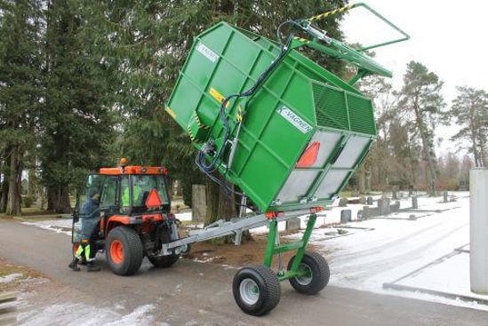 Bild på K-vagnen Bakmonterad sopkärlslyft/kärlvändare
